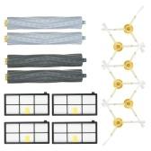 Pack von 14 Ersatz-Zubehör-Kit für iRobot Roomba 800 & 900-Serie 805 860 861 864 866 870 880 890 891 894 960 961 964 966 980 Staubsauger - Verwicklungsfreie Bürste + Bürste + HEPA-Filter