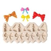 DIYちょう結びケーキ金型チョコレートフォンダン飾りツールレースボーダーシリコンベーキングシュガークラフトゴンパスト金型なし
