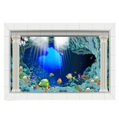 PVC Waterproof Single Side Ocean Natural Landscape Fish Bowl Sticker Aquarium Background Poster Wall Picture