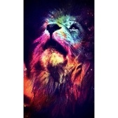 5D DIY Colorful Lion Diamond Painting Kit Arts Crafts Embroidery Cross Stitch Rhinestone Decoration Canvas Wall Home Office Decor