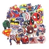 Pegatinas de 50 piezas para dibujos animados de superhéroes