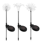 3 Pack Solar LED Lights Outdoor Garden Stake Lights