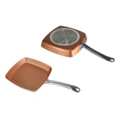 Rondel Square Copper Fry Pan Frying Ovenware (18,5 * 10,2 * 2,36 cala)