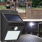 Sensor de movimiento de luz de pared con 30 paneles solares LED