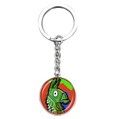 Fortnite Battle Royale Time Gem Jewel Aleación Colgante Key Chain Lock Keychain