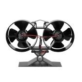 8 Blatt Twin Motor Wärmebetriebene Eco Kaminventilator