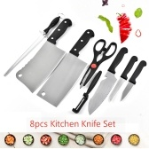 8pcs Kitchen Knife Set Chef Knives Fruit Knife
