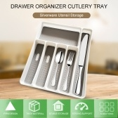 Drawer Organizer Cutlery Tray Silverware Utensil Storage 6 Sections for Kitchen Office Dinning Room