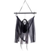 Haunted House Decoration Voice-activated Black Pole Hanging Ghost