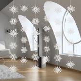 Ornamenti di Natale della stringa del fiocco di neve della carta della perla 3D