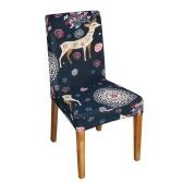 Printed Chair Cover Soft Milk Silk