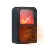 Riscaldatore portatile Effetto fiamma Spazio Riscaldamento Ventola Protezione da surriscaldamento Sensori di temperatura integrati Leggero compatto a basso rumore per il dormitorio dell'home office