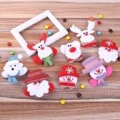 LED pince à cheveux brille rougeoyante Santa bonhomme de neige Santa Elk Bear poupée pendentif décorations de Noël