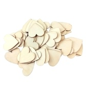 50Pcs 50mm Wooden Hearts Slices for DIY Scrapbooking Craft Wedding Partys Ornaments