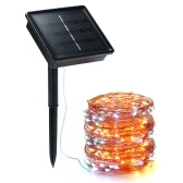 Solar String Lights 72ft 100 LED Rope Light 8 Modes Warm White Lights for Party Garden Home Festival Decoratio