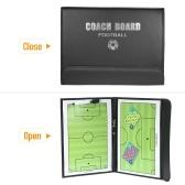 Football Coaches Magnetic Tactic Board - Presse-papiers pliable avec un stylo Wipe Write 2-en-1 (Football)