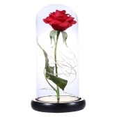 Artificial Flower Glass Cover L-ED String Light Desk Decoration Valentine