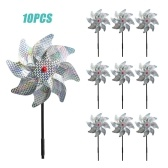 10Pcs Bird Repellent Pinwheel Reflective Sparkly Pin Wheels Protect Garden Plant Flower Bird Rpellent Windmill Garden Decoration