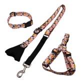 Nuevo estilo perro tirando de cuerda collar de pecho correa de perro de tres piezas Buffer cinturón de tracción reflectante retráctil