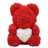 Rose Teddy Bear 10 Inches Tall Flower Bear