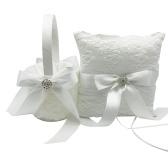 Cesta de flores + almohada para el portador del anillo de bodas