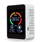 Monitor de qualidade do ar com detector de dióxido de carbono 3 em 1