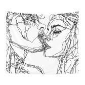Nuevo estilo ilustraciones de parejas tapiz