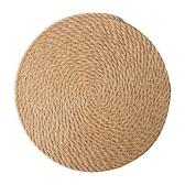 Manteles individuales tejidos Mantel individual trenzado redondo de 5 pulgadas para mesa de comedor Alfombrillas de yute antideslizantes resistentes al calor Alfombrilla de mesa para plato Tetera