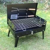 Folding Piknik Camping Charcoal grill Grill Regulowana Wysokość Przenośny Grill ogrodowy Grill Broiler Outdoor Cooking Tool 17.13 * 10.83 * 18.5in