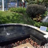 Fuentes de alta potencia Solar fuente 17V 10W equipo Solar agua bomba jardín paisaje fuente decorativa