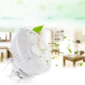 Portable White Mini USB Fan with Clip-on Design Stepless Controllable Speed Home Office Desk Cooling Clip Fan