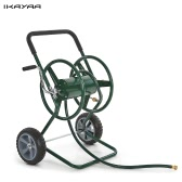 iKayaa 200 Feet Capacity Garden Hose Reel Cart Steel Frame 2 Wheel HHose Cart