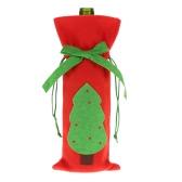 Botella de vino rojo Festnight 1PC Cubierta bolso de la cena de Navidad decoración de la tabla del partido Decoración del árbol de navidad
