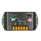 10A 12V / 24V PWM Solarladeregler mit Auto Regler LED-Anzeige für Sonnenkollektor-Batterie-Lampe Überlastungsschutz
