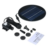 Decdeal 9V 2W Solar Panel Solar Powered Fountain Submersible Brushless Water Pump Kit for Bird Bath Pond Pull 200L/H 150cm Lift