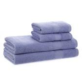 2pcs Badetücher + 2pcs Handtücher Set Baumwolle weiches schnelles absorbierendes Bad Tuch Tuch für Badezimmer Home Hotel Waschen Reinigung Hand Haare