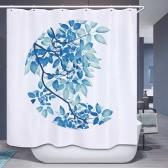 72 * 72 '' Imprimé Effet 3D Rideau de salle de bain décoratif en polyester imperméable à l'eau imperméable à l'eau avec crochets 12pcs