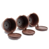 3Pcs Refillable Nescafe Многоразовая капсула Refill Eco-Friendly Single Coffee Filters Pods Совместимость с Nescafe Dolce Gusto Brewers