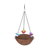 Color Bird Perch Parrot Hanging Swing Chew Toy Coco Wood Bird Cage Accessories Toys Stand for Parrots