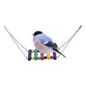 Colorful Parrot Chew Bite Climb Toy Wooden Hanging Toys Bird Cage Accessories for Parakeet Budgie Macaw Cockatoo