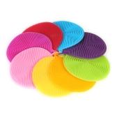Esonmus 8pcs Mehrzweck Food-Grade Silikon-Reinigungspads Hitzebeständige Spülbürste Schwamm Scrubber für Küche Garage Badezimmer