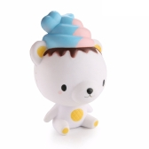 Cute Cartoon Ice Cream Bear Slow Rising Squishy Kids Fun Stress Relief Toy Funny Gift Phone Straps Reliefing Doll Home Party Decoration