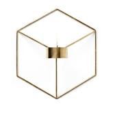 Estilo Nórdico 3D Castiçal Geométrico Castiçal de Parede de Metal Suporte de Vela Sconce Home Decor
