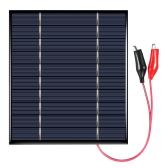 2.5W 5V Polycrystalline Silicon Solar Panel с аллигаторными зажимами Солнечная батарея для зарядного устройства DIY