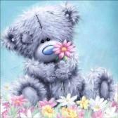 12 * 12 polegadas / 30 * 30 cm DIY 5D Pintura Diamante Kit Urso Resina Strass Mosaico Bordado Ponto Cruz Artesanato Casa Decoração Da Parede
