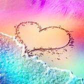 DIY 5D Алмазная живопись Пейзаж Сердце Песок Пляж Полный Кристалл Алмазная живопись Акупунктура Домашнее украшение
