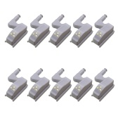 Universal Cabinet Hinge LED Sensor Light For Kitchen Living Room Bedroom Cupboard Closet Wardrobe Lamp 10Pcs White