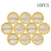 10pcs Novedad Sex Coin Alemania Medallas Gold Lover