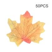 50個のシミュレーション工場フォトシュート小道具偽のシルクの秋の葉は、人工の秋の葉
