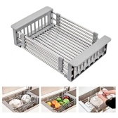 Rack Drain Basket Stainless Steel Telescopic Sink Rack